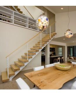 Маршевая лестница М3 в стиле лофт