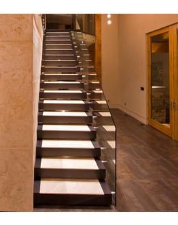 Консольная лестница К5 со стеклянным ограждением