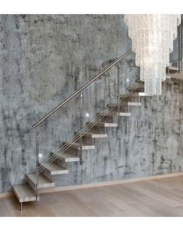 Больцевая лестница Б1 из нержавеющей стали