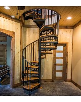 Винтовая лестница В4 с коваными элементами