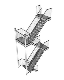 Пожарная лестница  ПЖ-1