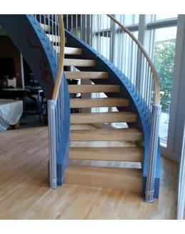 Кольцевая лестница КО-2 на тетиве