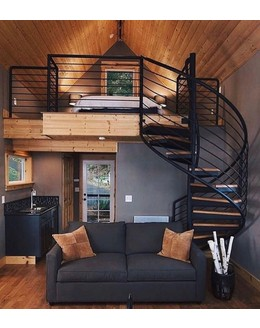 Винтовая лестница В9 в стиле лофт