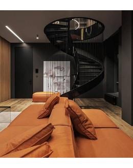 Кольцевая лестница КО-9 с тросовым ограждением