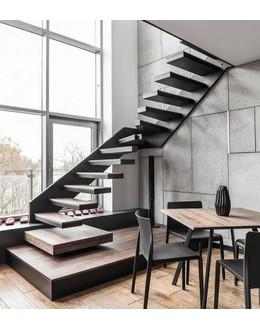 Консольная лестница  К8 прямая на тетиве