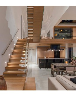 Консольная лестница  К9 прямая на тетиве