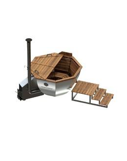 Банный чан КНЯЗЬ (10-12 чел) с боковой печью