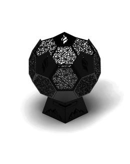 Костровая чаша в форме мяча