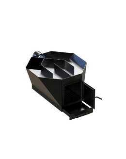 Печка с вытяжкой из черной стали