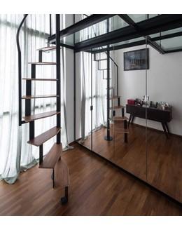 Винтовая лестница В18 в стиле минимализм